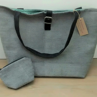 Grey Tote Bag with Coin Purse, Shopping bag