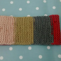 Knitted Headband, Autumn Colours