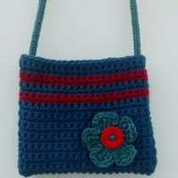 Girl's Crocheted Crossbody Bag
