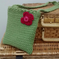 Girls Crochet Bag, Fern Green