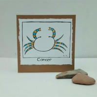 Zodiac Birthday Card, Cancer June 21 to July 22nd