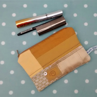 Make Up Bag , Zipped Fabric Pouch