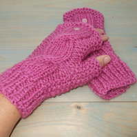 Wrist Warmers - Pink Gloves
