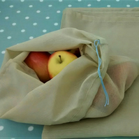 Set of 3 Reusable Produce Bags, Storage Bags