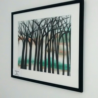 Tangled Trees, Original Watercolour Landscape