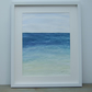 Original Watercolour Seascape Framed Painting, Aqua Sea 1