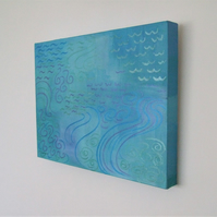 Original Abstract Painting, Water 2