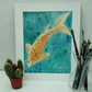 Original Watercolour Painting, Koi 2