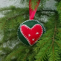 Christmas Tree Decoration, Felt Bauble