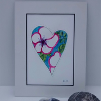 Watercolour Painting, Floral Heart 3