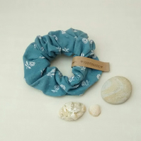 Scrunchie, Blue Floral Laura Ashley Fabric