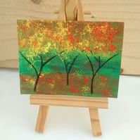 ACEO Yellow Autumn, Trees