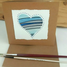 Heart Card, Blue Sky