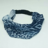 Hair Band, Wide Headband, Navy