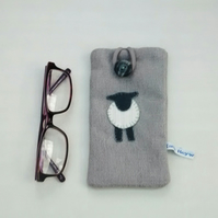 Glasses Case, Sheep Design