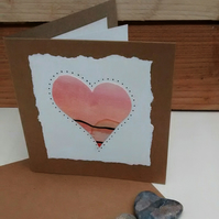 Valentine's Card, Heart Greetings Card, Anniversary Card