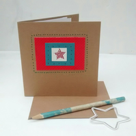You're a Star Card, Handmade Recycled Card