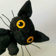 Halloween Unloved Black Cat 'Tom'