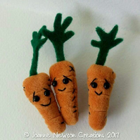 Unloved Carrot Brooch