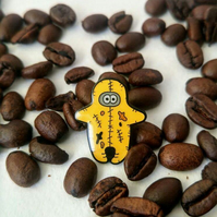 Odd One Coffee Crazy Pin