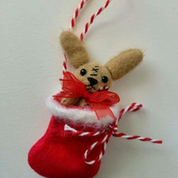 Unloved Teeny Bunny in Stocking