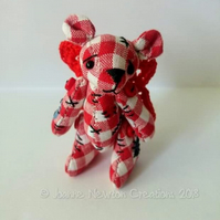 Unloved Picnic Flutter Bear 'Cherry'