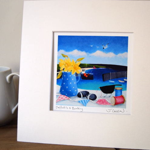 Daffodils & Bunting Open Edition Signed Print