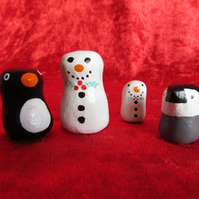 Clay Miniature mini Christmas set