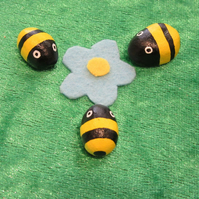 Miniature bee decorations