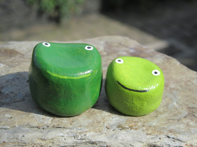 Frog and Froglet miniature ornaments