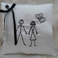 Wedding Ring Cushion - Bridal Pillow - Pin Man