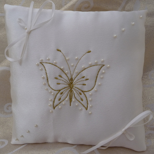 Wedding Ring Pillow -Wedding Ring Cushion - Bridal