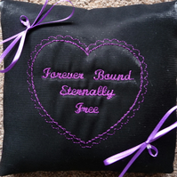 Gothic Wedding Ring Pillow - Bridal Cushion