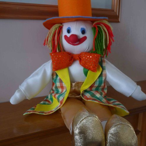 Clown - soft toy - display - shelf sitter - OOAK
