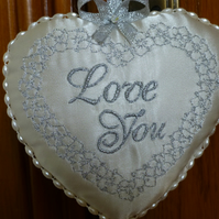 Love heart - door hanger