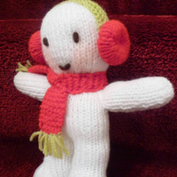 Snowman knitted