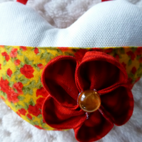 Fabric heart with pocket