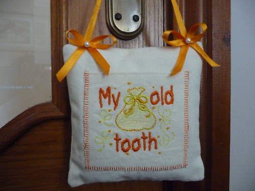 Tooth fairy cushion - door hanger