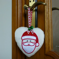 Christmas Santa Heart Decoration