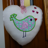 Bird Heart decoration - door hanger