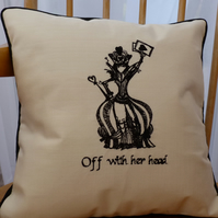 Alice in Wonderland Cushion Cover Featuring the Queen of Hearts