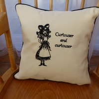Alice in Wonderland Cushion Cover embroidered