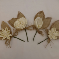 Wedding Button Holes, Bridal Boutonniere