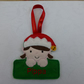 Personalised Christmas ornament tag - reindeer
