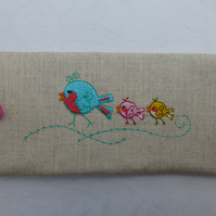 Cute Birds glasses case