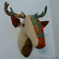 christmas reindeer - faux taxidermy wall decoration