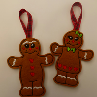 Gingerbread couple - christmas decoration