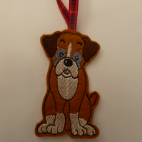 Boxer Dog - christmas tree decoration