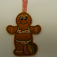 gingerbread christmas tree decoration - beach babe