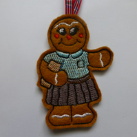 christmas tree decoration - gingerbread shcool girl